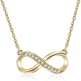 Mestige Women's Gold-Tone Plated Infinitely Yours Pendant Necklace (MSNE3401)