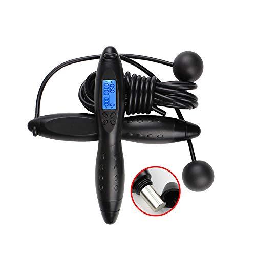 SYXX Sport Springseil, Intelligent Electronic Counting Adult Fitness Springseil, Schnurloses Multi-Kalorien Gewicht tragendes Springseil, Sportfitnessgeräte, Profi Fitness Springseil (Color : B)