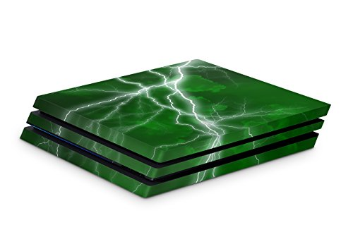 Skins4u Aufkleber Design Schutzfolie Vinyl Skin kompatibel mit Sony PS4 Playstation 4 Pro apoc green