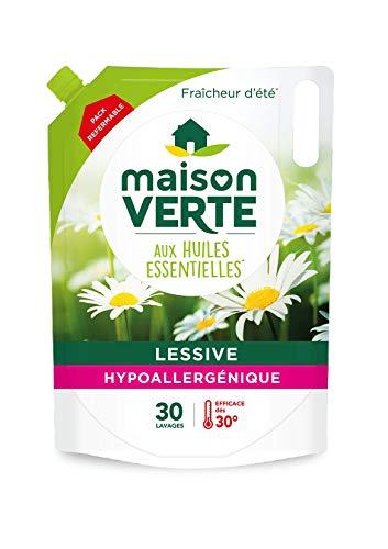 Maison Verte Lessive écolabel hypoallergénique aux huiles essentielles - Le pack de 1,8L