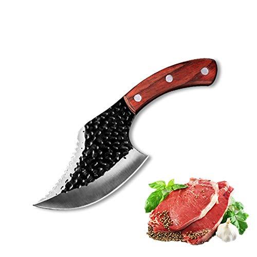 Cuchillo de Carnicero 5'Cuchillo de carnicero forjado Cuchillo al aire libre 5CR15 Acero inoxidable Cuchillo Cuchillo Cuchillo de carne Cuchillo de pesca con tapa Sharp Cuchillo de cocina Cuchillo de