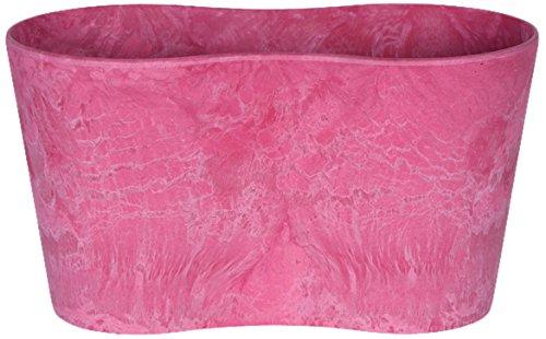 Artstone Pflanzgefäß duo Claire, frostbeständig und leichtgewichtig, 20 x 11 cm, rosa
