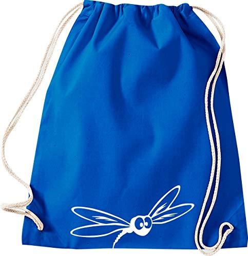 Shirtstown Turnbeutel Gymsack, Tiere Mücke Stechmücke, Sprüche Spruch Logo Motiv, Tasche Sport Beutel, Farbe Royal