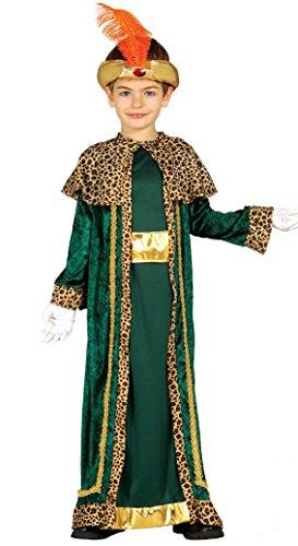 Guirma Melchiorre Bambi Costume re magio Bambino, Verde, 5-6 anni 42430