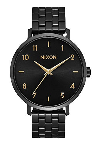 NIXON Arrow A1090 - Black/Gold - 50m Water Resistant Women's Analog Classic Watch (38mm Watch Face, 17.5mm Stainless Steel Band)