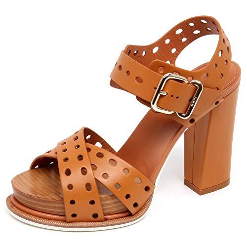 Tod's F3192 Sandalo Donna Light Brown Scarpe Sandal Shoe Woman [40]