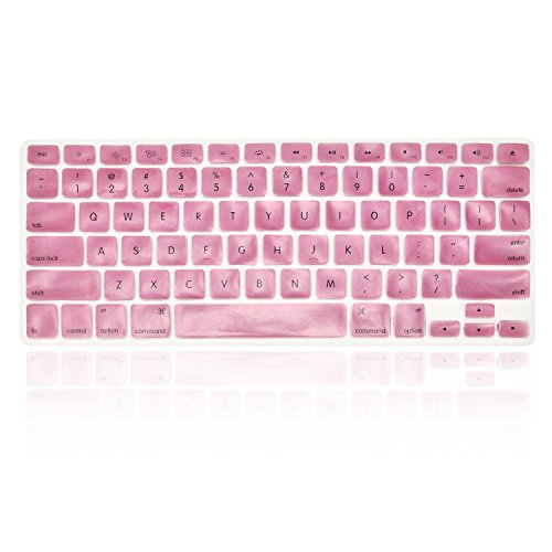TOP CASE Silicone Cover Skin Compatible with Apple Wireless Keyboard with TOP CASE Mouse Pad (Metallic, Metallic Pink)