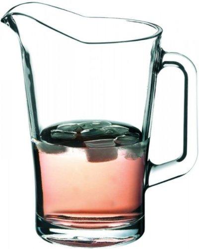2er Set Schwerer Pitcher Glaskrug 1,8 Liter mit Eislippe