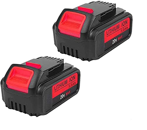 2Pack 4000mAh 20V for Dewalt DCB205 Battery, Lithium-ion Replacement Battery for Dewalt dcb200 DCB204 DCB207 DCB205-2 DCB180 DCD985B DCD771C2 DCS355D1 DCD790B