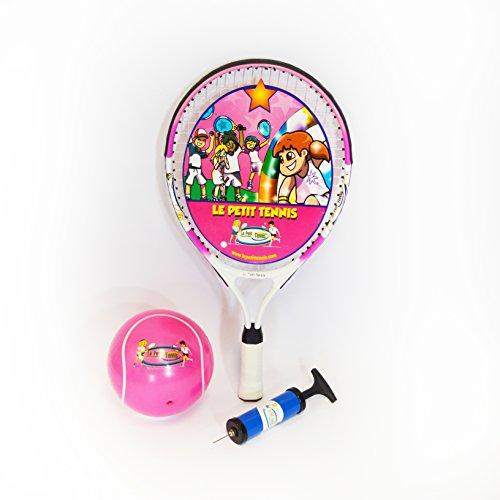Le Petit Tennis - Racchetta Rosa 19' + Palla Tennis Gonfiabile Rosa 15cm - per Bambino di 5 anni (Racchetta 47cm + Palla 6')