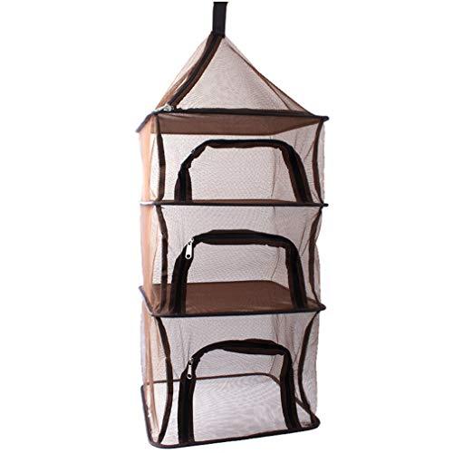 zhbotaolang Grande Sac Pliable pour Filet - Panier de Rangement à Suspendre Portable 4 Couches de Camping Pique Nique