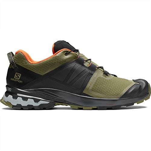 Salomon Men's XA Wild Trail Running, Burnt Olive/Black/Exotic Orange, 12
