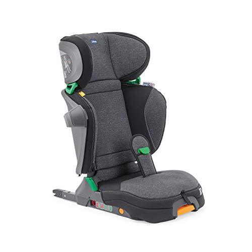 Chicco Fold&Go I-Size Seggiolino Auto 15-36 kg, Connettori Rigidi ISOFIX, Gruppo 2/3, Bambini 3-12 Anni, Reclinabile e Pieghevole, Protezione...