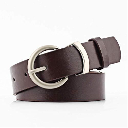 YAD cintura Cintura Da Donna Casual Selvaggia Con Fibbia Ad Ago 95X2,8 Cm Caffè