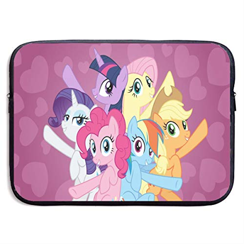 My Pony Cartoon Animation Laptop Sleeve Bag Tablet Briefcase Ultraportable Protective Canvas for MacBook Pro/MacBook Air/Notebook Computer13 Inch