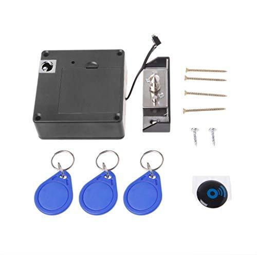 Gabinete Invisible Cerradura electrónica RFID Cerradura de puerta de cajón sin llave oculta Cerraduras con sensor - 3 llaveros