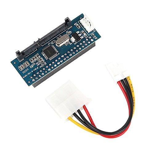 "ZGQA-GQA Piezas de portátil Adaptador IDE a SATA Tarjeta de conversión de 3,5""Macho IDE Pata a Puerto Serie ATA"