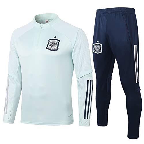 PARTAS Spanien Tracksuits Football Wear Verein Uniform Langarm-Trainingsanzug Wettbewerb Anzug Herren 2 Stück Sets (Size : S)