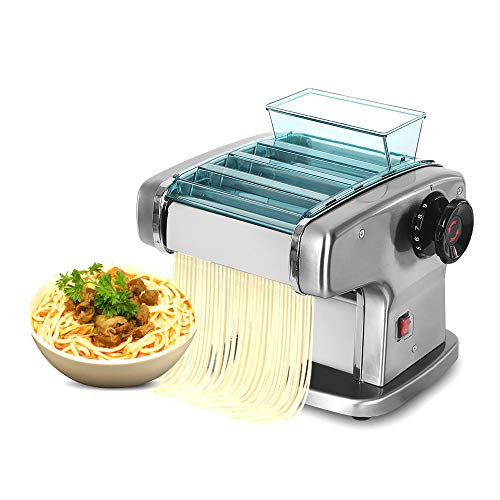 Electric Pasta Maker Machine - Noodle Rolling Machine Fully Automatic to Create Your Own Delicious Fresh Pasta Including Spaghetti, Noodles, Wonton, Dumpling Skin and More