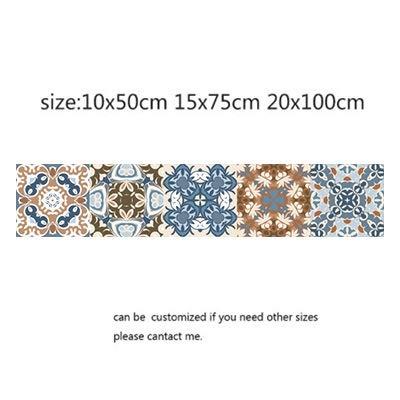 Leileixiao Adhesivo de pared de mosaico retro para baño, línea de cintura, adhesivo de cocina, inodoro, impermeable, vinilo de PVC (color: 11, tamaño: 15 x 75 cm)