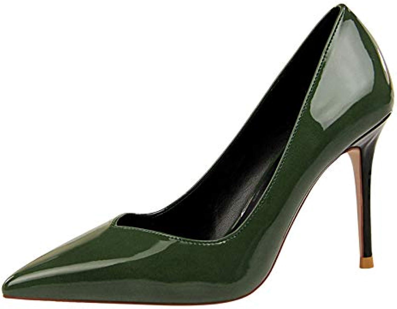 FLYRCX Europäische Frühling und Herbst wies Stiletto Heels Lackleder Mode Temperament Einzelne Schuhe Damen Büro Arbeit Schuhe  | Kaufen Sie online  | Der Schatz des Kindes, unser Glück  | Deutsche Outlets