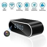 Jiyibidi 1080P WiFi Hidden Camera Clock Mini Video Recorder Wireless Spy Camera