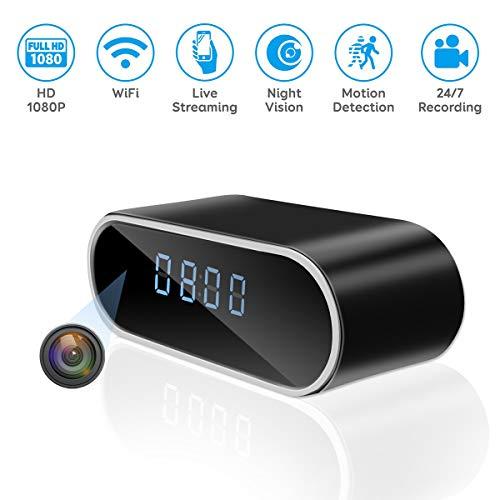 Jiyibidi 1080P WiFi Hidden Camera Clock Mini Video Recorder Wireless Spy Camera...