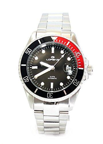 Lorenz Orologio da polso, mod. 026959AA, subacqueo, automatico, cassa e cinturino in acciaio da 43mm, numero di riferimento: 026959BB