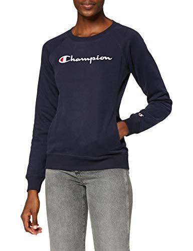 Champion Donna - Felpa Classic Logo - Blu, L