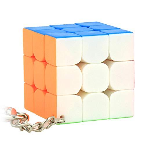 Ykun Llavero del Cubo de Rubik, Mini Llavero de Tercer Orden, Llavero Colgante-Los 4.0cm