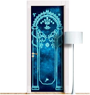 WonderlandWalls Magic Gates Sticky Mural for Door/Wall/Fridge - ONE Piece Removable Decal, Cover, Wrap. All Door Sizes! (30