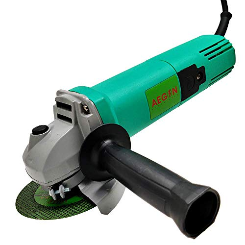Aegon Ag100pa Heavy-Duty Versatile Multipurpose Angle Grinder for Grinding, Cutting, Sharpening, Polishing, Removing Rust (850 W, 4 Inch, Green)