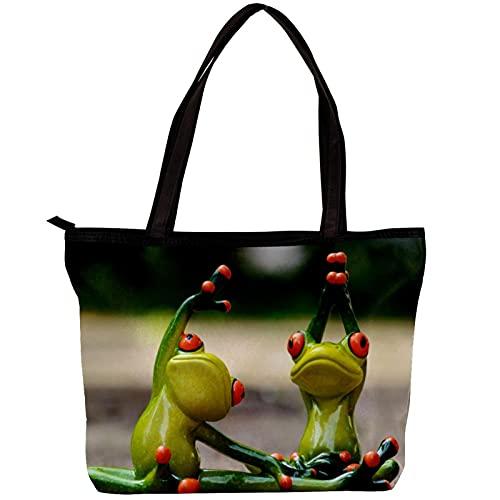 LORVIES - Bolso bandolera para mujer con dos ranas, para hacer yoga