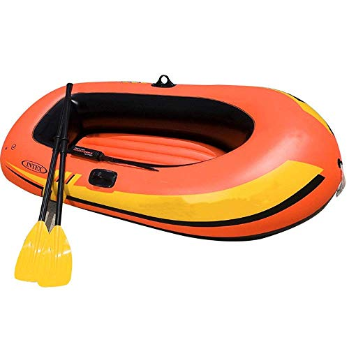 JIEJIE Kajak Explorer Zwei oder DREI Inflatable Boat Group Fischerboot Eindickung Kajak Schlauchboot Hovercraft Aufblasbarer Kajak (Farbe: Orange, Größe: 185x94x41cm) QIANGQIANG