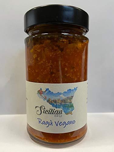 Ragu' Vegano – 280 gr. Vegan Bolognese. Gemaakt in Sicilië. Artisan zelfgemaakt luxe eten.