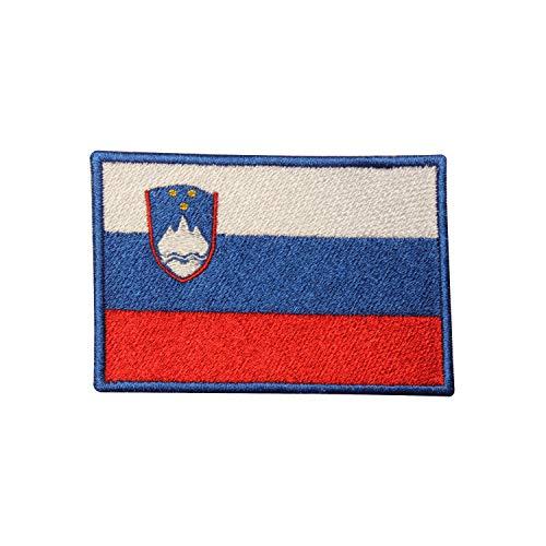 Aufnäher mit Slowenien-Flagge, bestickt, zum Aufbügeln oder Aufnähen, für Kleidung etc.