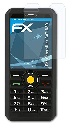 atFolix Schutzfolie kompatibel mit Caterpillar CAT B30 Folie, ultraklare FX Bildschirmschutzfolie (3X)