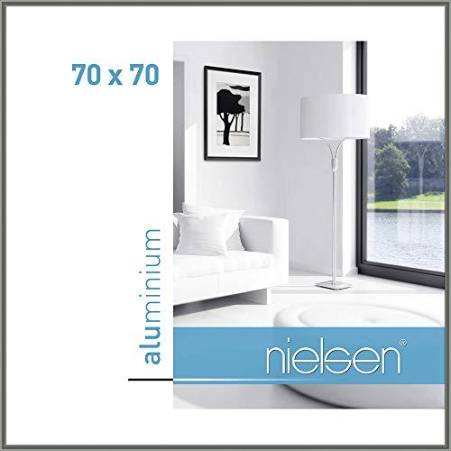 Bilderrahmen von Nielsen Alurahmen Classic 70x70 Grau - Normalglas