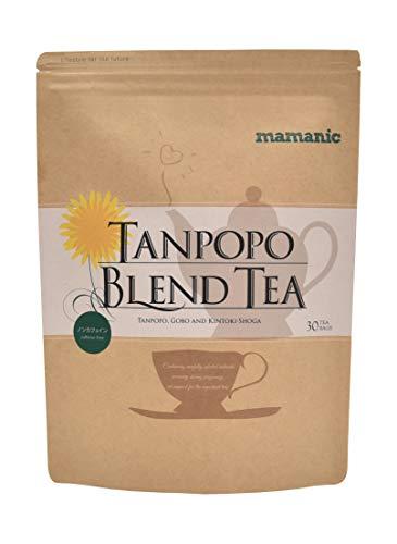ノンカフェインたんぽぽブレンドティー1袋30包入ママニックたんぽぽ茶母乳育児授乳無添加
