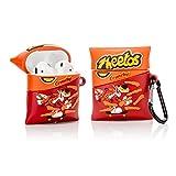 ZAHIUS Airpods Carcasa Funda de Silicona Compatible con Airpods de Apple 1 y 2 [Snacks Series 3D] (Cheetos)