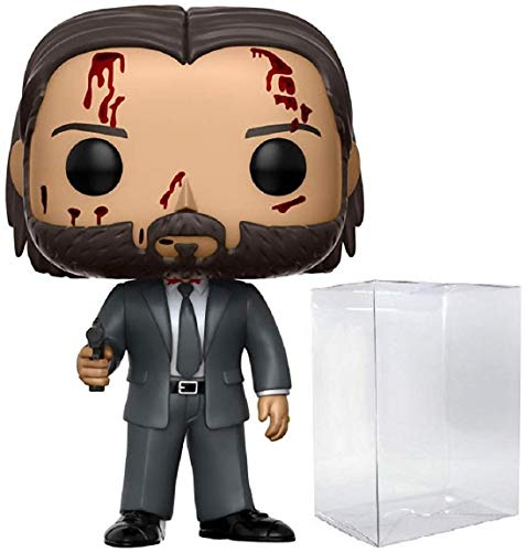 Funko Pop! Movies: John Wick Chapter 2 - Bloody Limited Chase Variant Vinyl Figure (Bundled with Pop Box Protector Case)