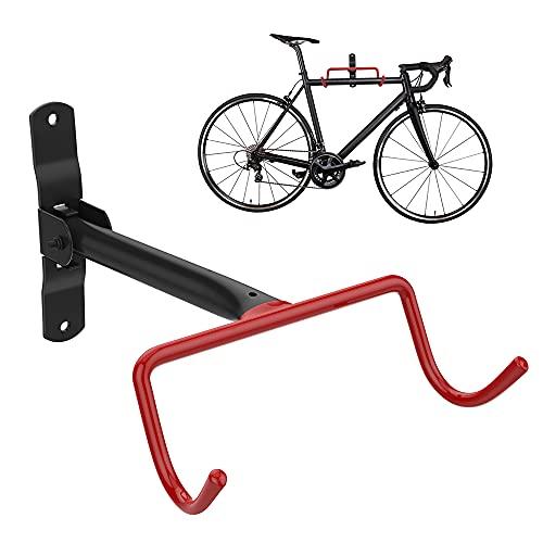 Nuovoware Supporto per Bici, Portabici da Parete, Supporti per Biciclette, in Acciaio, Ganci da Parete per Bici in Metallo, Portabicicletta Stabile, Fino a 30 KG, Resistente e Salvaspazio - Nero