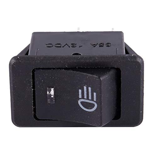 Gesh Luz antiniebla LED para coche, barco, 12 V, 35 A, interruptor basculante para salpicadero, color azul