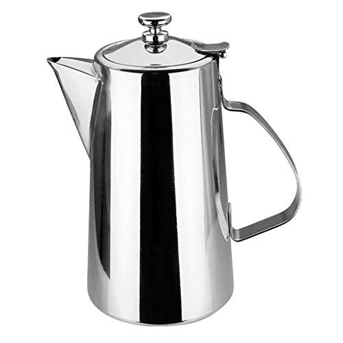 Heyb - Jarra de agua con tapa para cafetería y leche de bebida (2 L)