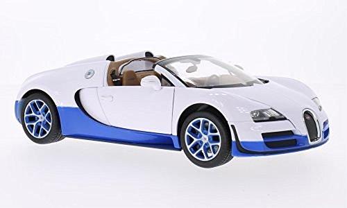 Bugatti Veyron 16.4 Grand Sport Vitesse, Weiss/blau, Modellauto, Fertigmodell, Rastar 1:18