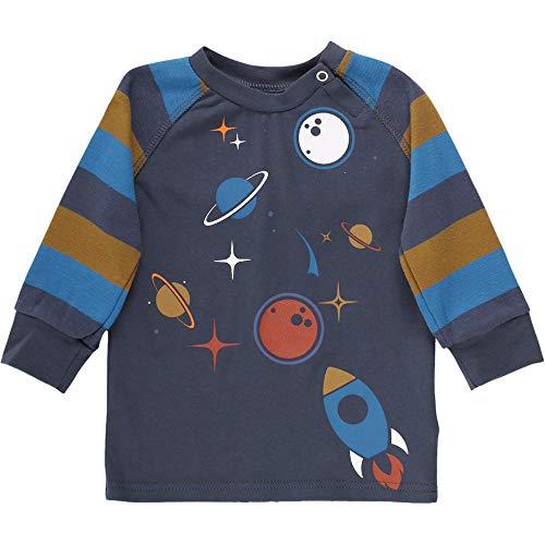 Fred'S World By Green Cotton Space Raglan T T-Shirt, Bleu (Midnight 019411006), 95 (Taille Fabricant: 80) Bébé garçon