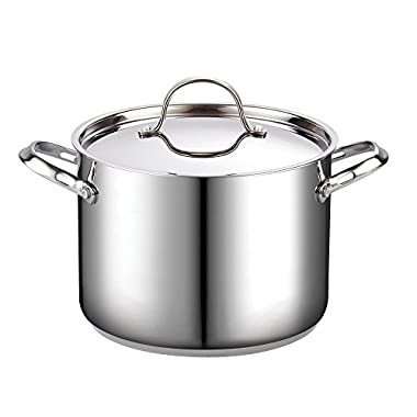 Cooks Standard 8-Quart Classic Stainless Steel Stockpot with Lid