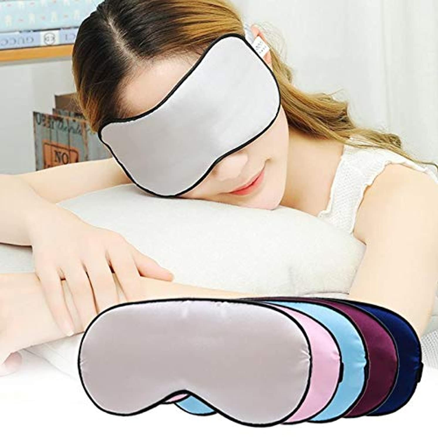 湿った原点政策メモシルクアイマスクゴーグル両面アイシェード疲労を軽減アイマスク睡眠目隠し休息リラックスリラックス補助睡眠ヘルプZ4