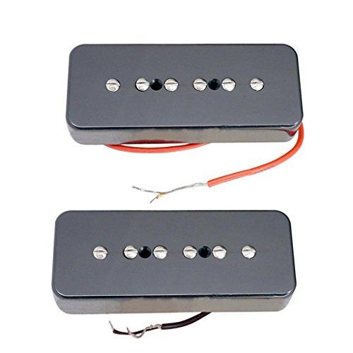 2 Stück Hochwertige P90 Soapbar Single Coil Humbucker Pickups Für LP Epi Gitarre Teile - Schwarz