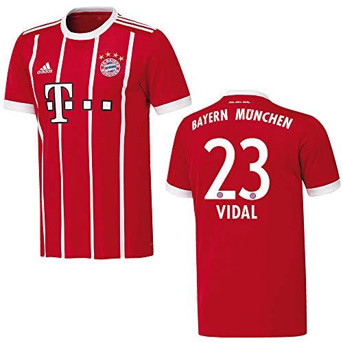 adidas Bayern Trikot Home Herren 2018 - Vidal 23, Größe:XXXL